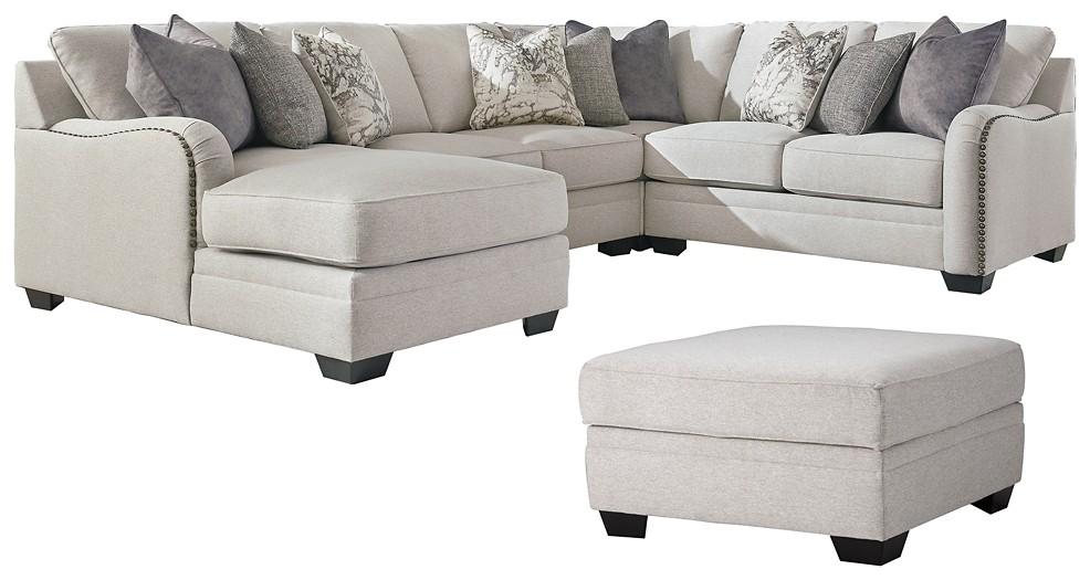 Dellara - 4-Piece Sectional with Ottoman