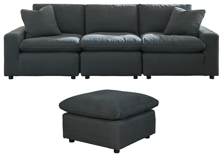 Savesto - 3-Piece Sectional with Ottoman