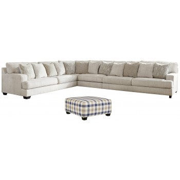 Rawcliffe - 4-Piece Sectional with Ottoman