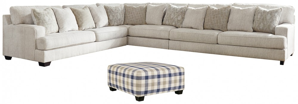 Rawcliffe 4 Piece Sectional With Ottoman 19604 08 S2 Living Room Groups L Fish Furniture And Mattress In