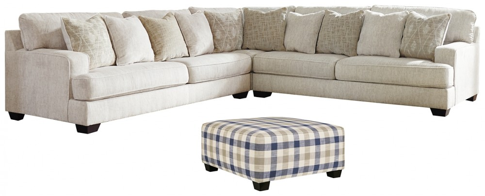 Rawcliffe - 3-Piece Sectional with Ottoman