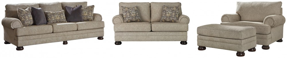 3-Piece Upholstery Package with Ottoman