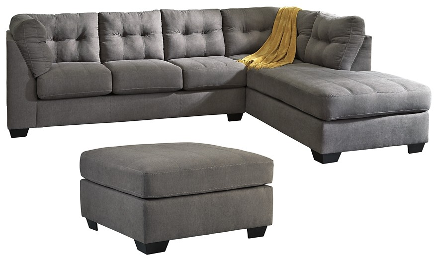 Maier - 2-Piece Sectional with Ottoman