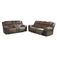 Reclining Sofa and Loveseat Package