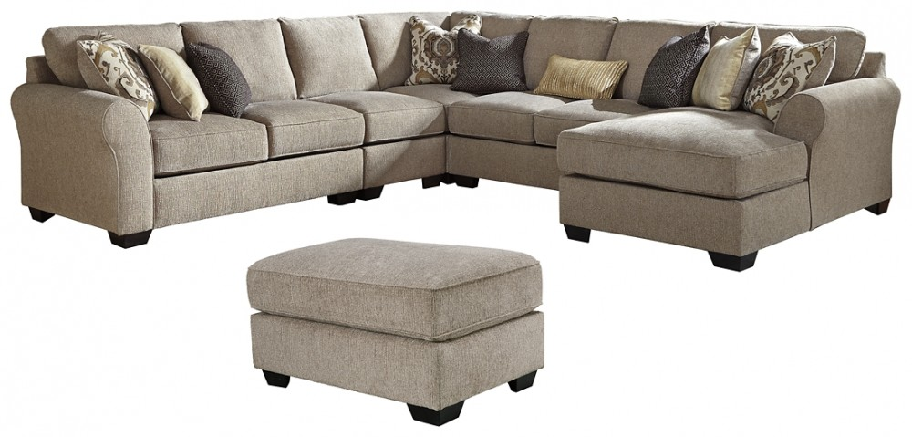 Pantomine - 5-Piece Sectional with Ottoman