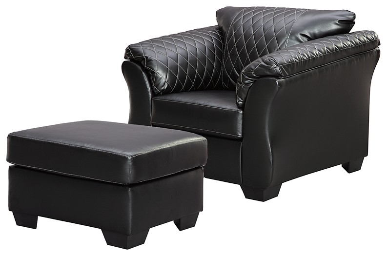 Betrillo - Chair and Ottoman