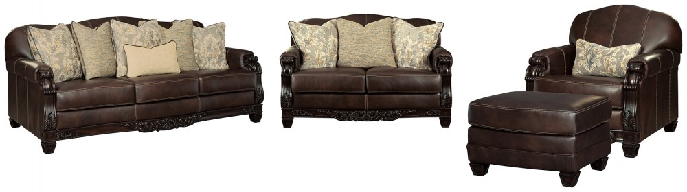 Embrook - Sofa, Loveseat, Chair and Ottoman