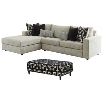 Ravenstone - 2-Piece Sectional with Ottoman