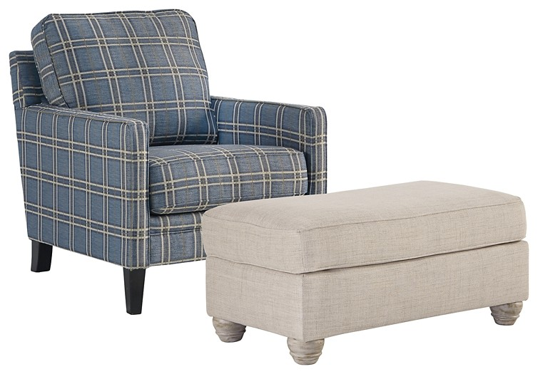 Traemore - Chair and Ottoman