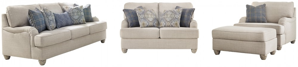 Traemore - Sofa, Loveseat, Chair and Ottoman
