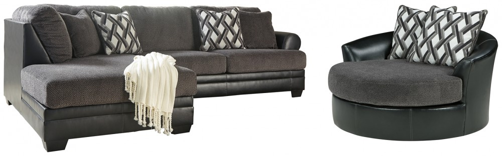 Kumasi 2 Piece Sectional With Chair 32202 21 S1 Living Room Groups Shapiro S Furniture Barn