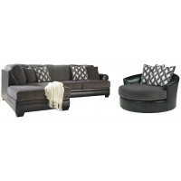 2-Piece Sectional with Oversized Chair