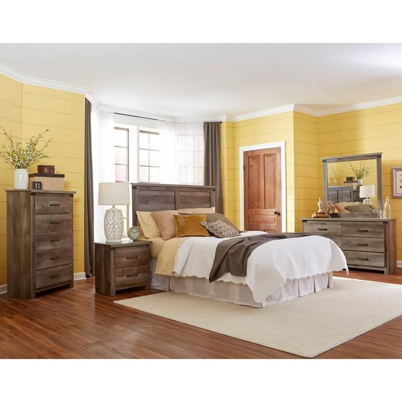 Gambriel - Grey - Queen Headboard, Dresser and Mirror