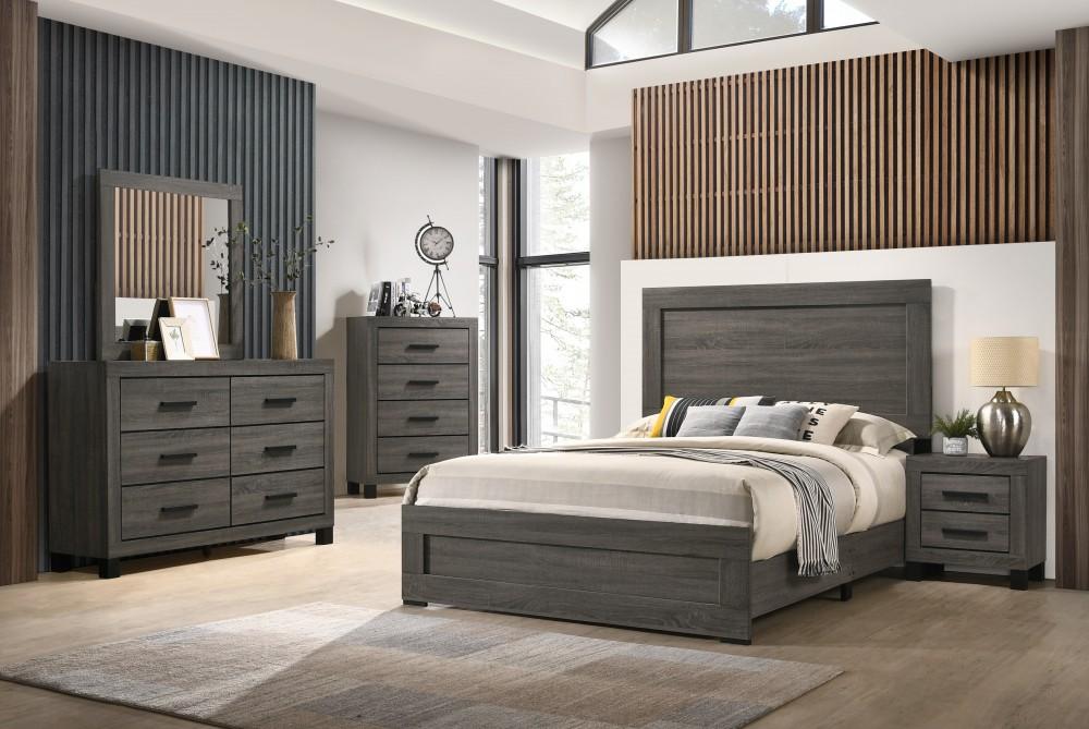 Brandon Dresser Mirror Chest Nightstand Queen Bed Complete Set 8321 Complete Bedroom Sets Price Busters Furniture