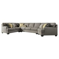 Cresson 4-Piece Sectional with Cuddler with Added Armless Loveseat
