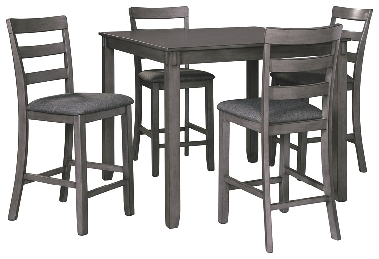 Bridson - Bridson Counter Height Dining Room Table and Bar Stools (Set of 5)