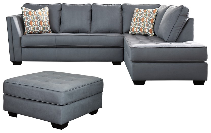 Filone - 2-Piece Sectional with Ottoman