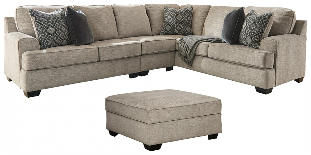 Bovarian - 3-Piece Sectional with Ottoman
