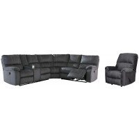 Urbino - 3-Piece Sectional with Recliner