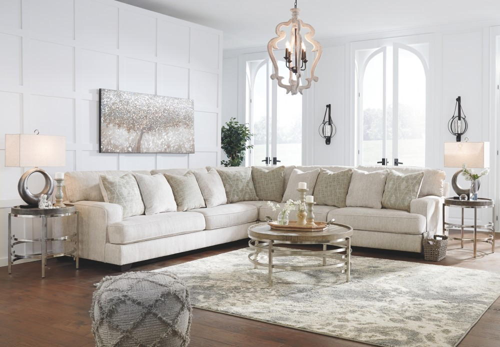 Rawcliffe Parchment 3-Piece Sectional