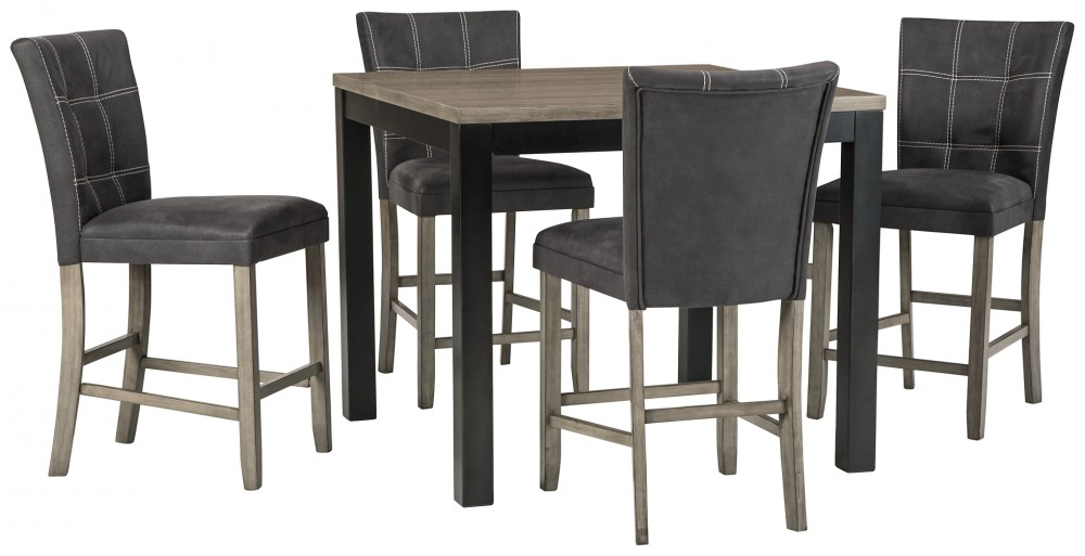 Dontally - Counter Height Dining Table and 4 Barstools