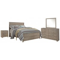 Culverbach - Queen Panel Bed with Mirrored Dresser and 2 Nightstands