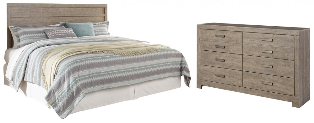Culverbach - King Panel Headboard Bed with Dresser