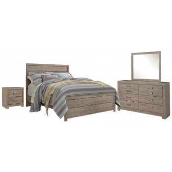 Culverbach - Queen/Full Panel Headboard with Mirrored Dresser and 2 Nightstands