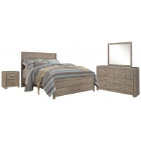 Culverbach - Queen/Full Panel Headboard Bed with Mirrored Dresser and 2 Nightstands
