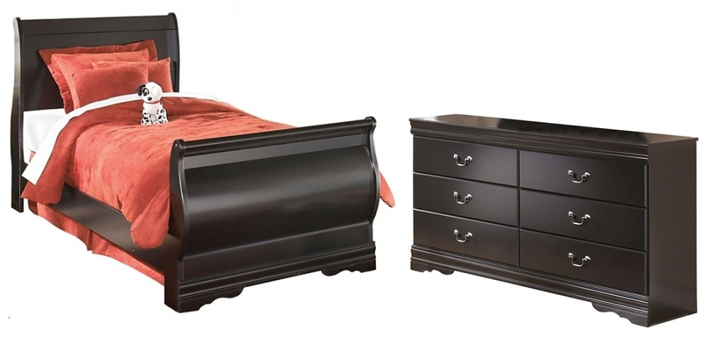 Huey Vineyard - Twin Sleigh Bed with Dresser