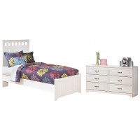 Lulu - Full Panel Headboard Bed with Dresser