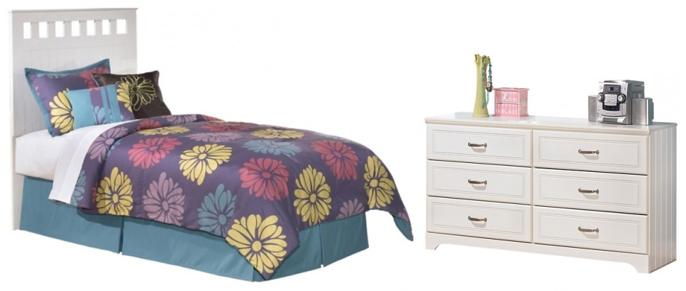 Lulu - Twin Panel Headboard Bed with Dresser