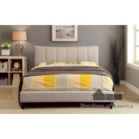Ennis - Queen Bed, Beige