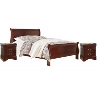 Queen Bed with 2 Nightstands