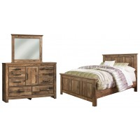Blaneville - Queen Panel Bed with Mirrored Dresser