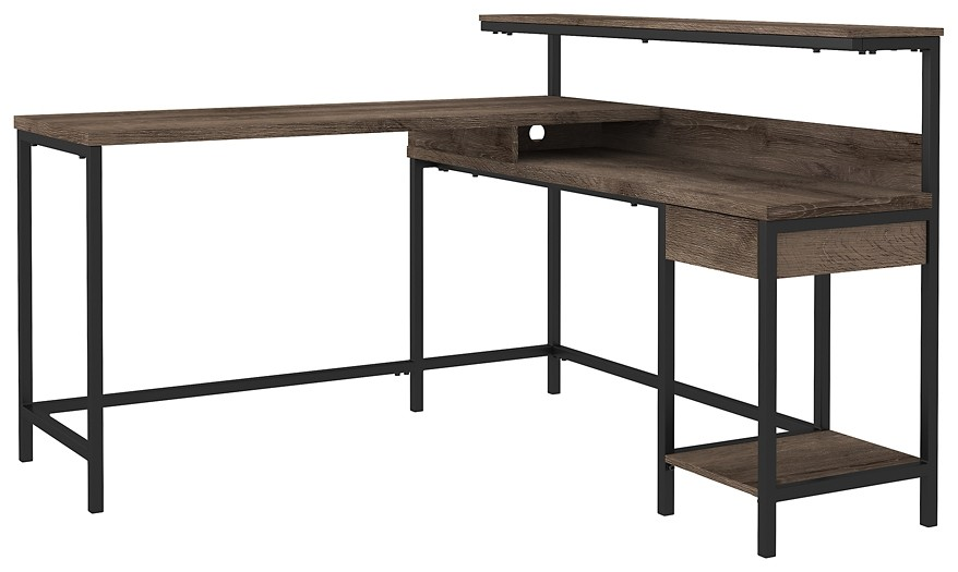 Arlenbry - L-Desk with Storage