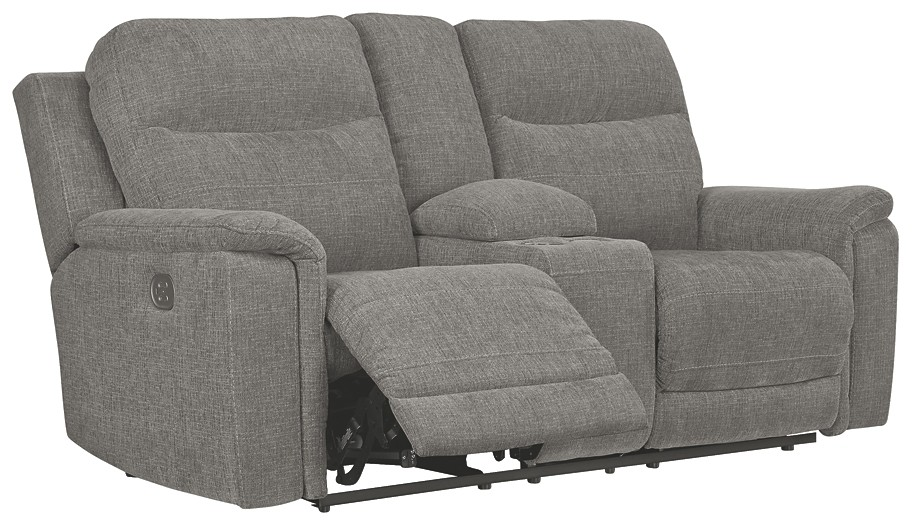 Mouttrie - PWR REC Loveseat/CON/ADJ HDRST
