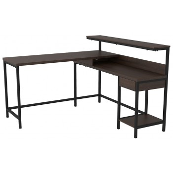 Camiburg - L-Desk with Storage