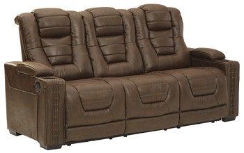 Owner's Box - PWR REC Sofa with ADJ Headrest