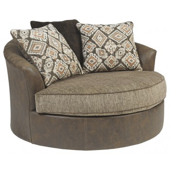 Abalone - Oversized Swivel Accent Chair