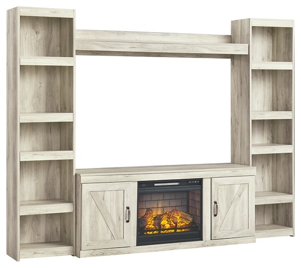Bellaby - 4-Piece Entertainment Center with Electric Fireplace