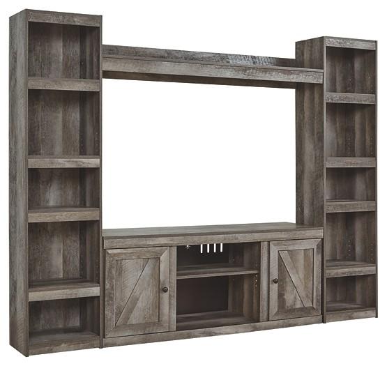 Ashley Furniture Wynnlow Gray Entertainment Center With: Wynnlow - 4-Piece Entertainment Center
