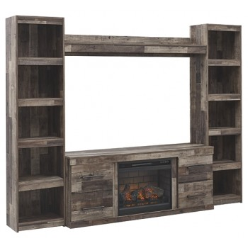 Derekson - 4-Piece Entertainment Center with Electric Fireplace