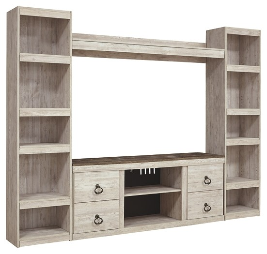 Willowton - 4-Piece Entertainment Center with Electric Fireplace