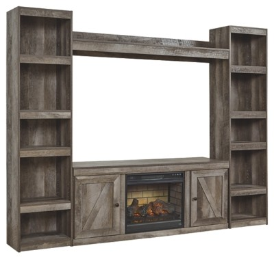 Wynnlow - 4-Piece Entertainment Center with Electric Fireplace