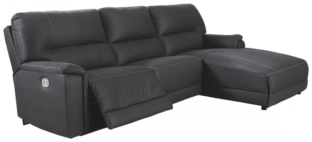 Henefer - 3-Piece Power Reclining Sectional with Chaise