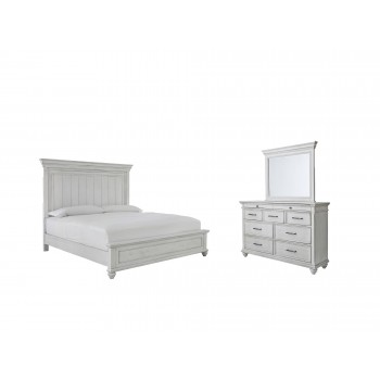 Kanwyn - Queen Panel Bed with Mirrored Dresser