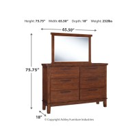 Ralene - Queen Upholstered Panel Bed with Mirrored Dresser