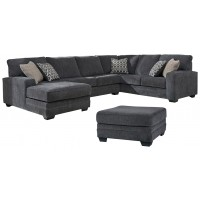 Tracling - 3-Piece Sectional with Ottoman
