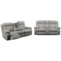 Power Reclining Sofa and Loveseat Package